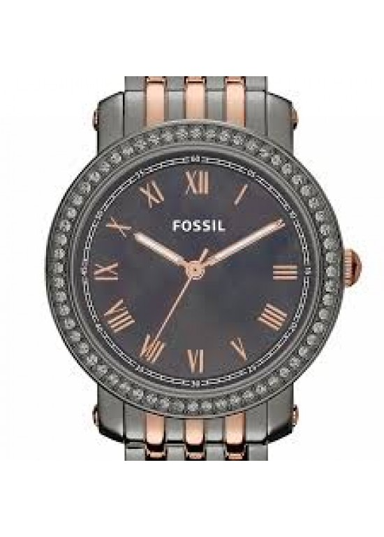 Fossil Emma Grey PVD Stainless Steel Ladies Watch - ES3115-dial