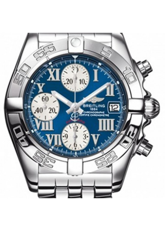 Breitling Chrono Galactic Stainless Steel Mens Watch - A13358L2/C678-dial