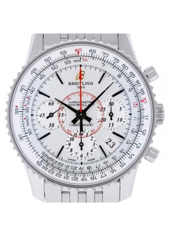 Breitling Montbrillant Stainless Steel Mens Watch - AB013112/G735-dial