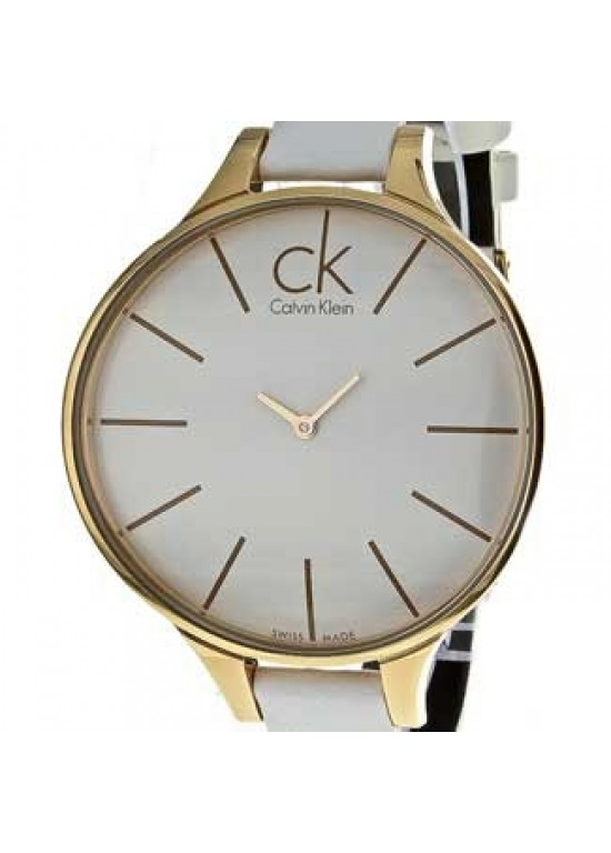 Calvin Klein Glow Rose Gold-Tone Stainless Steel Ladies - K2B23601-dial