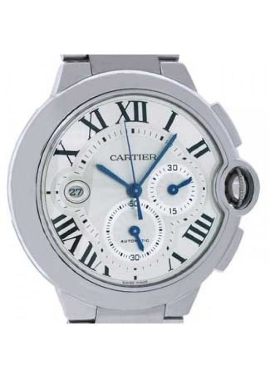 Cartier Ballon Bleu Stainless Steel Mens Watch - W6920002-dial