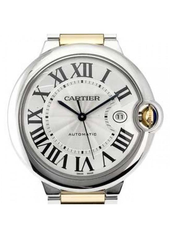 Cartier Ballon Bleu SS with 18kt Gold Mens Watch - W69009Z3-dial
