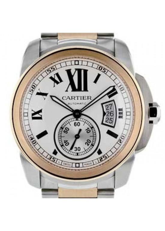 Cartier Calibre De Cartier Stainless Steel Mens Watch - W7100036-dial