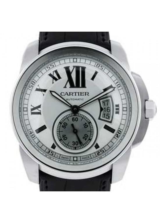 Cartier Calibre De Cartier Stainless Steel Mens Watch - W7100037-dial