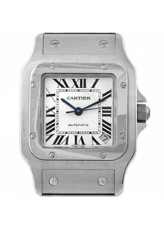 Cartier Santos Stainless Steel Mens Watch - W20098D6-dial