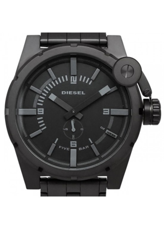 Diesel Advanced Black Ion-plated Stainless Steel Mens Watch - DZ4235-dial