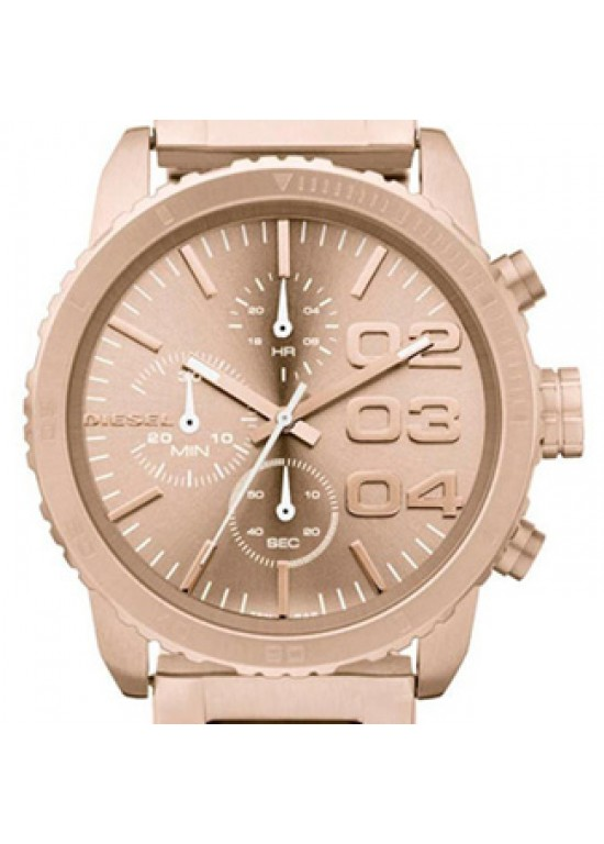 Diesel Classic Rose Gold Ion-plated Stainless Steel Mens Watch -DZ5318-dial