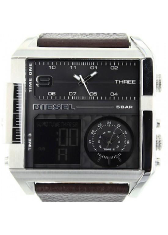 Diesel Dual-Dial Stainless Steel Mens Watch - DZ7209-dial