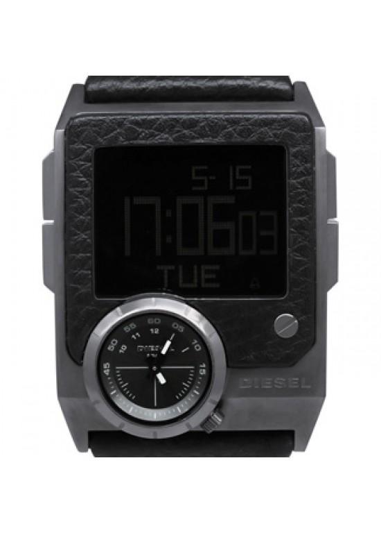 Diesel SBA Black Ion-plated Stainless Steel Mens Watch - DZ7231-dial