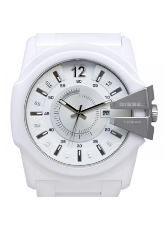 Diesel Timeframes White Ceramic Mens Watch - DZ1515-dial