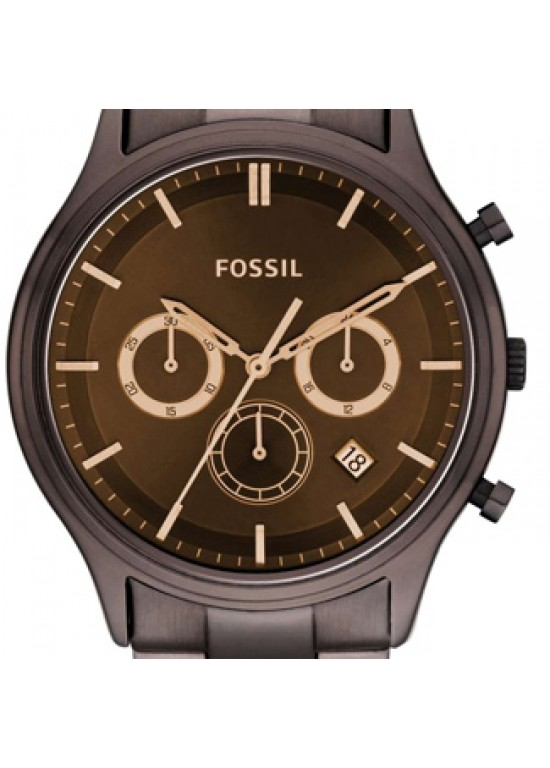 Fossil Ansel Brown stainless steel Mens Watch - FS4670-Dial