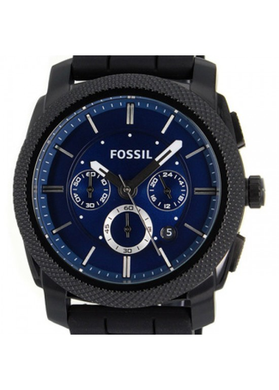Fossil Classic Black Ion-played Stainless Steel Mens Watch - FS4605-dial