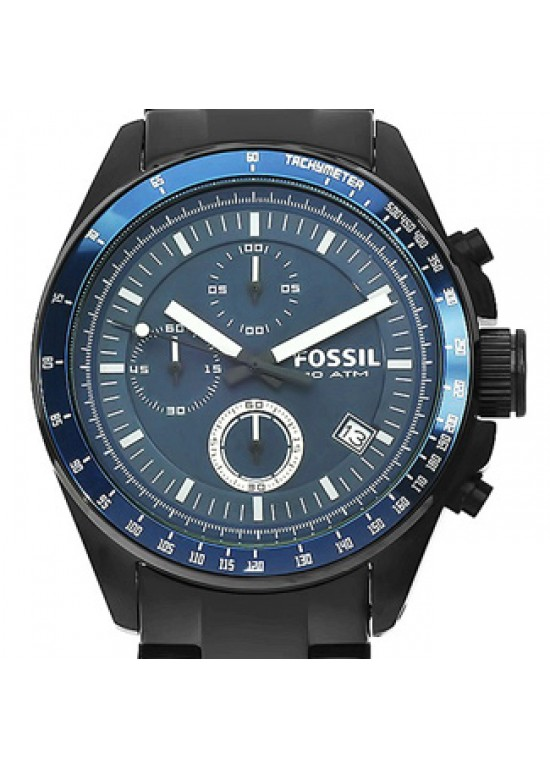 Fossil Decker Black Ion-plated Stainless Steel Mens Watch - CH2692-dial