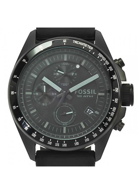 Fossil Decker Black Ion-plated Stainless Steel Mens Watch - CH2703-Dial