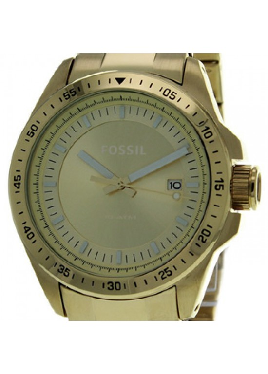 Fossil Decker Gold Tone Stainless Steel Mens Watch - AM4386-dial