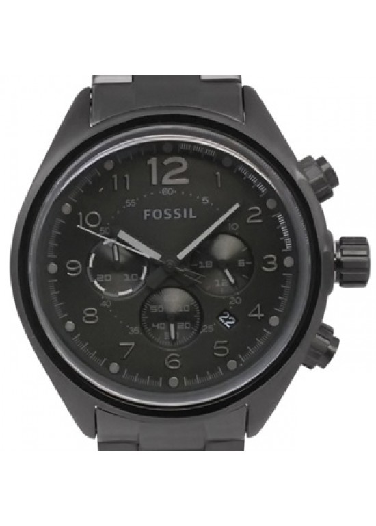 Fossil Flight Black Ion-plated Stainless Steel Mens Watch - CH2803-dial