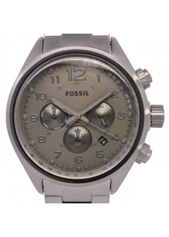 Fossil Flight Dark Grey Stainless Steel Mens Watch - CH2802-Dial