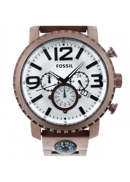 Fossil Gage Brown Ion-plated Stainless Steel Mens Watch - JR1302-Dial