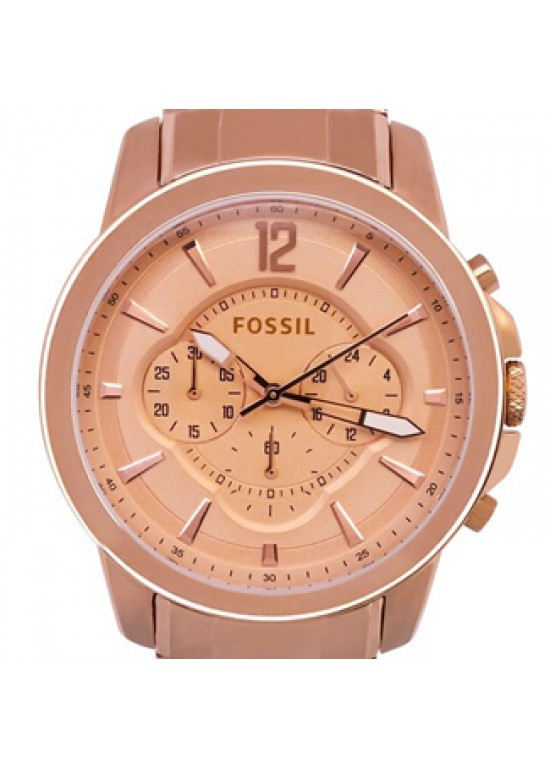Fossil Grant Rose Gold-plated Stainless Steel Mens Watch - FS4635-Dial