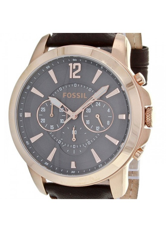 Fossil Grant Rose Gold-tone Stainless Steel Mens Watch - FS4648-dial