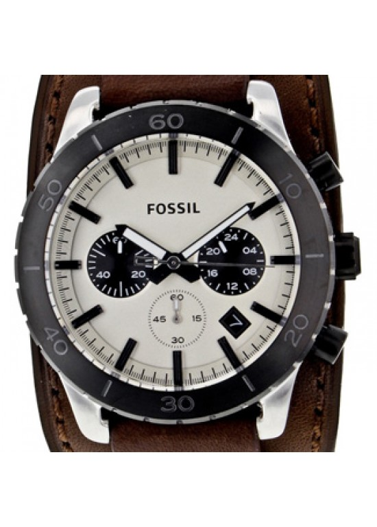 Fossil Keaton Black Ion-plated Stainless Steel Mens Watch - JR1395-dial