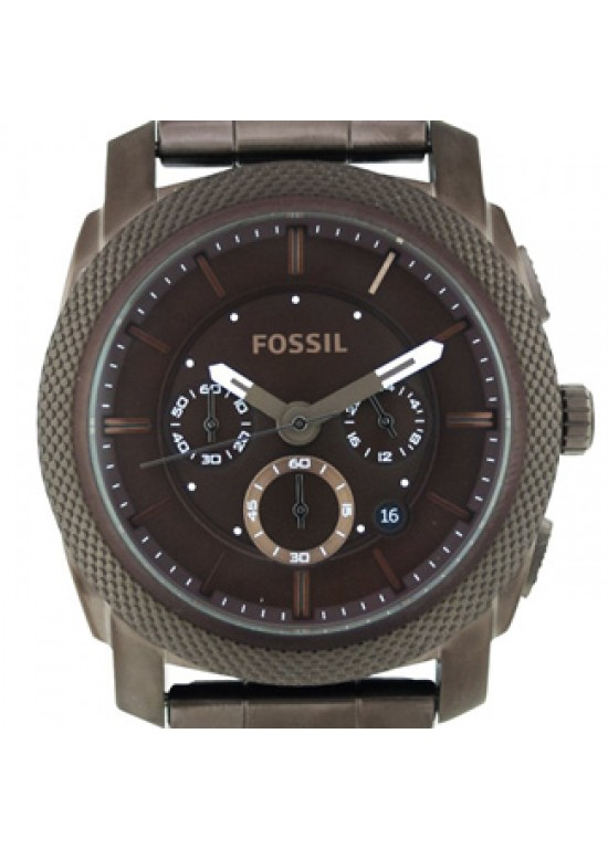 Fossil Machine Brown Ion-plated Stainless Steel  Mens Watch - FS4661-dial