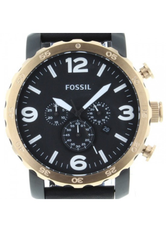 Fossil Nate Black Ion-plated Stainless Mens Watch - JR1369-Dial