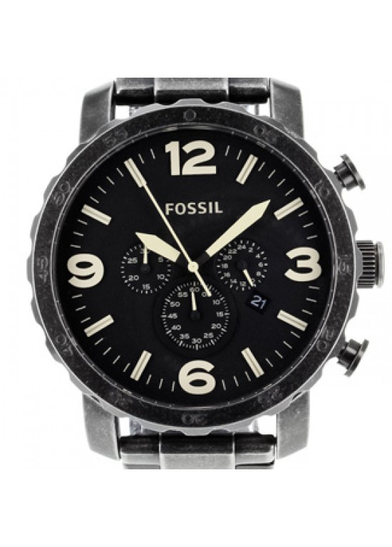 Fossil Nate Stainless Steel Mens Watch - JR1388-dial