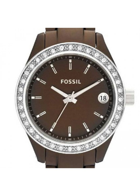 Fossil Stella Mini Chocolate Brown Aluminum Ladies Watch - ES2963-dial
