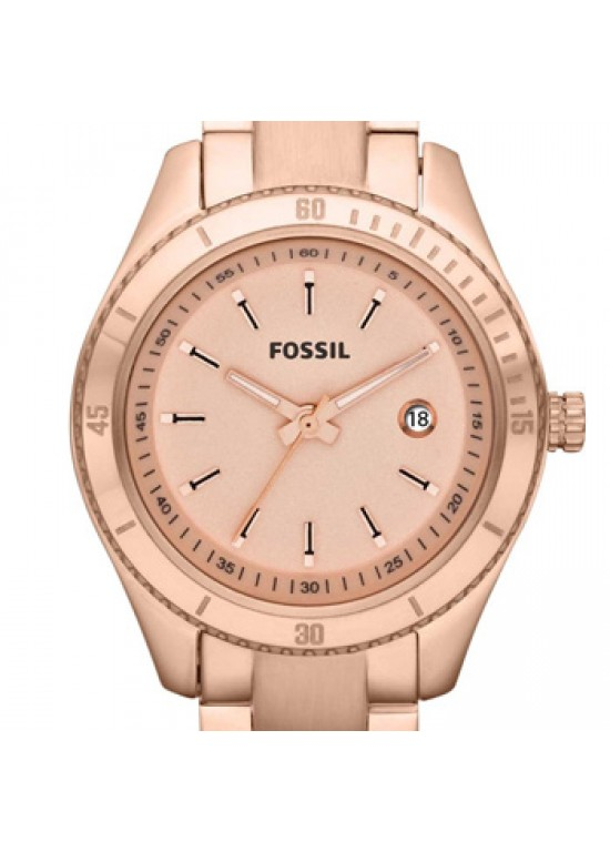 Fossil Stella Rose Gold-Tone Stainless Steel Ladies Watch - ES3019-dial