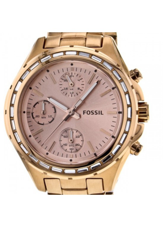 Fossil Dylan Rose Gold-tone Stainless Steel Ladies Watch - CH2826-dial