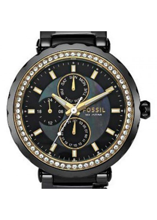 Fossil Glitz Stainless Steel Ladies Watch - CE1013-dial