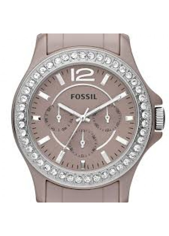 Fossil Riley Ceramic Ladies Watch - CE1063-dial