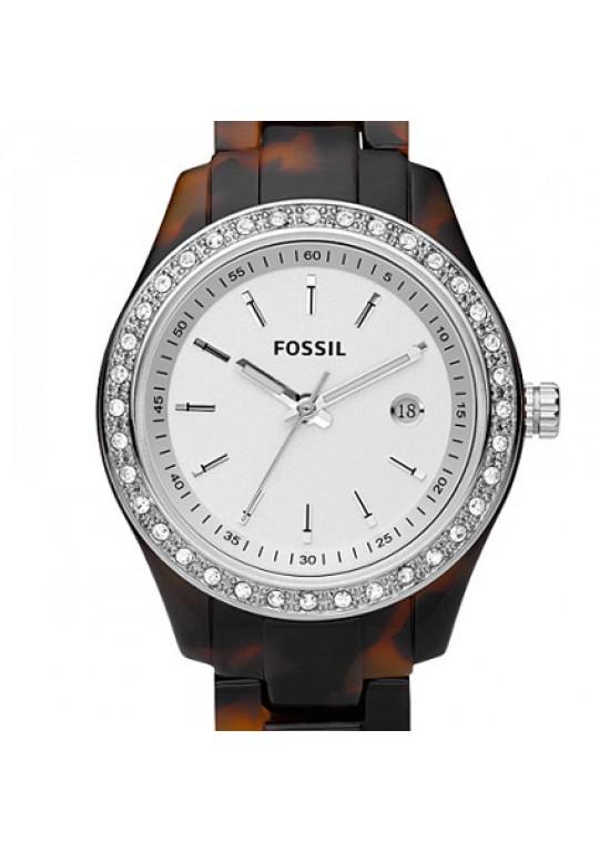 Fossil Stella Mini Faux Tortoise Plastic Ladies Watch - ES2680-dial