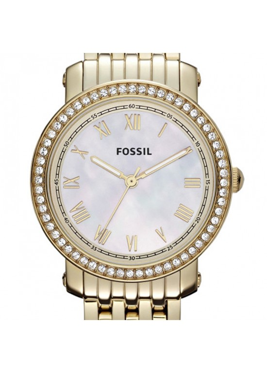 Fossil Stella Mini Gold-tone Stainless Steel Ladies Watch - ES3113-dial