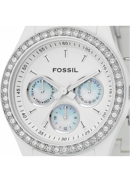 Fossil Stella White Resin Ladies Watch - ES1967-dial