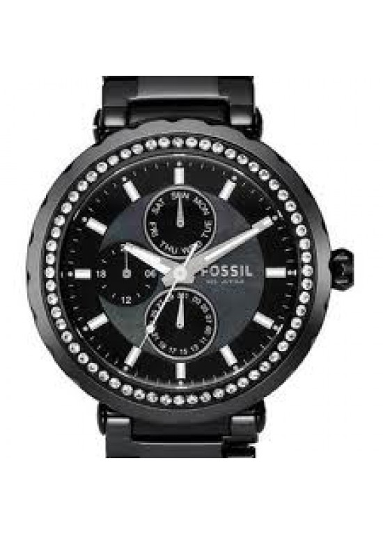 Fossil Swarovski Stainless Steel Ladies Watch - CE1009-dial