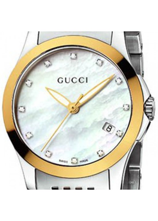 13d648d6556 GUCCI TIMELESS STAINLESS STEEL LADIES WATCH - YA126513 - MY LOVE STONE
