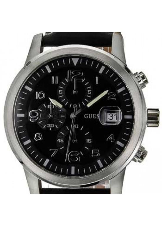 Guess Classic Stainless Steel Mens Watch - W11163G4-dial