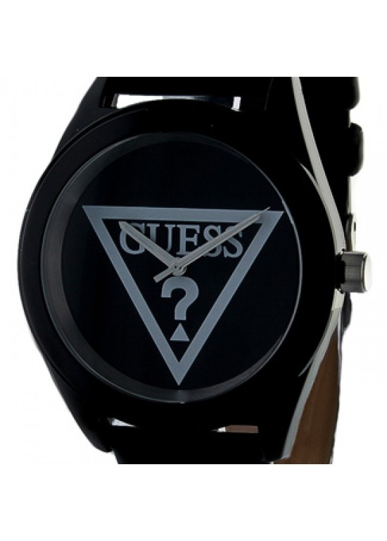 Guess Leather Stainless Steel Ladies Watch - W65014L2-dial