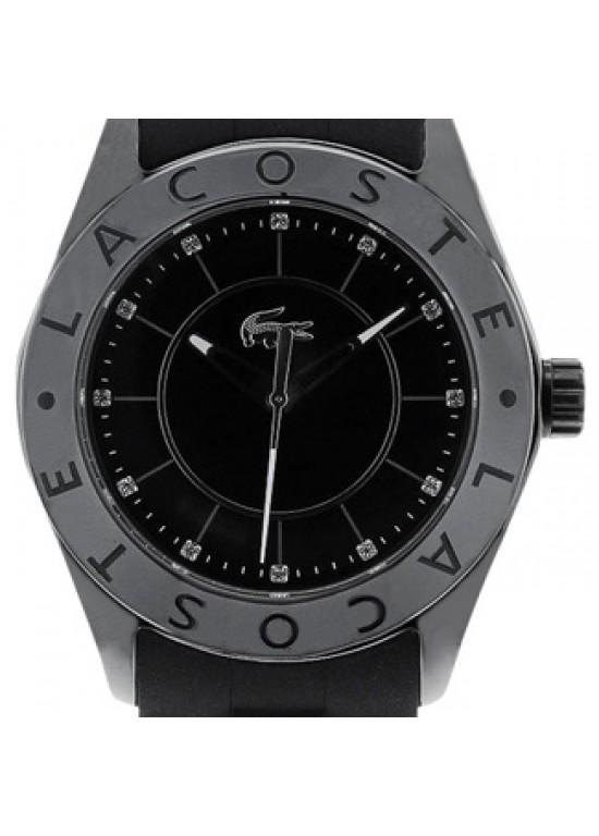 Lacoste Biarritz Black ceramic Ladies Watch - 2000673-dial