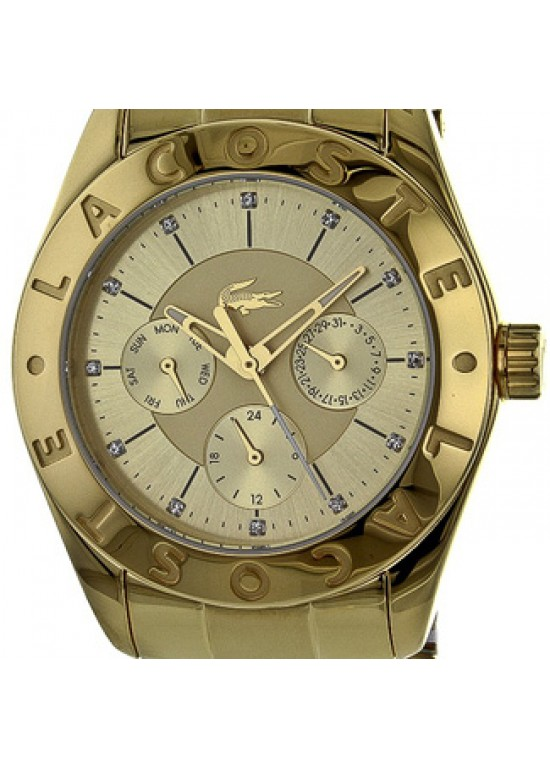 Lacoste Biarritz Gold Ion-plated Steel Ladies Watch - 2000753-dial