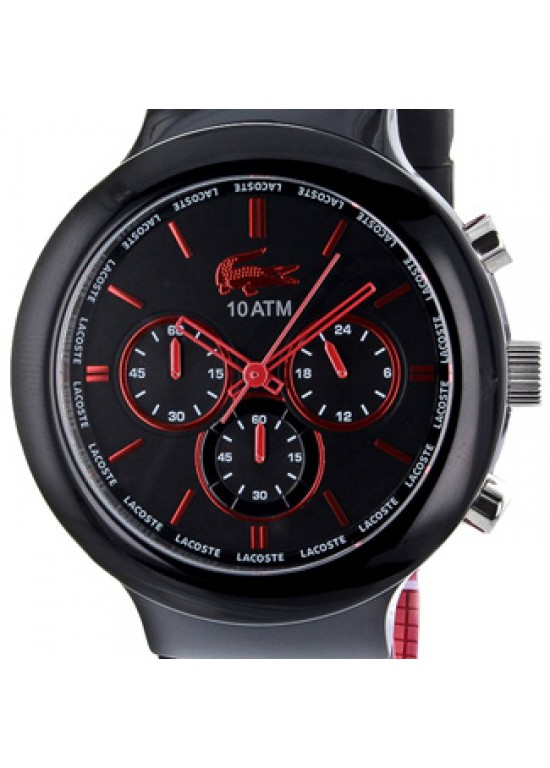 Lacoste Borneo Black Steel with Plastic Mens Watch - 2010652-dial