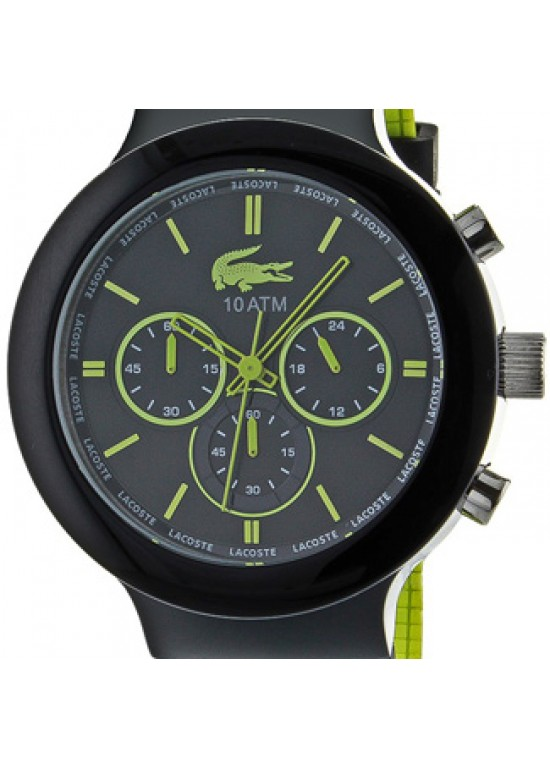 Lacoste Borneo Black Steel with Plastic Mens Watch - 2010650-dial