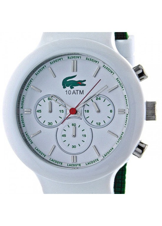 Lacoste Borneo White Steel with Plastic Mens Watch - 2010653-dial