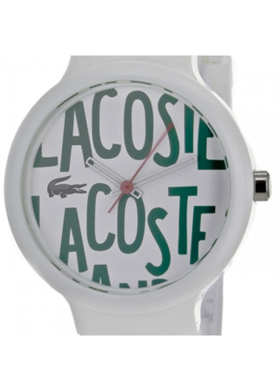Lacoste Goa White Plastic Mens Watch - 2020055-dial