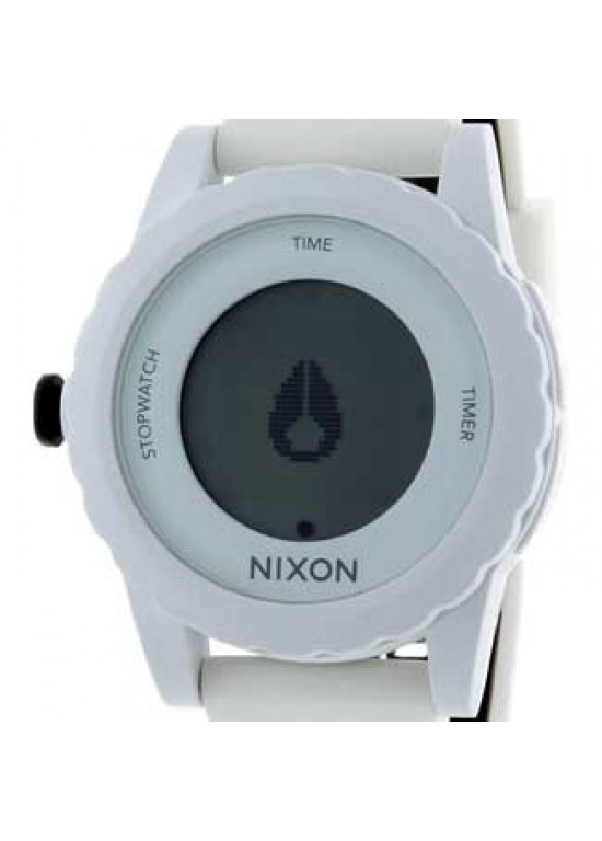 Nixon Genie White Silcone Mens Watch - A326-100-dial