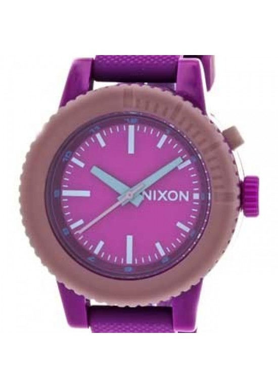 Nixon Gogo Pink Polycarbonate Ladies Watch - A287-698-dial