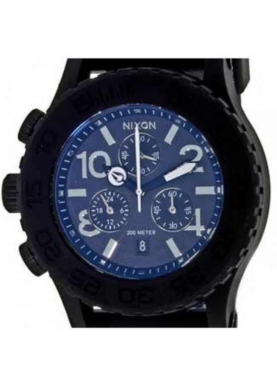 Nixon Rubber Chrono Stainless Steel Mens Watch - A309-000-dial