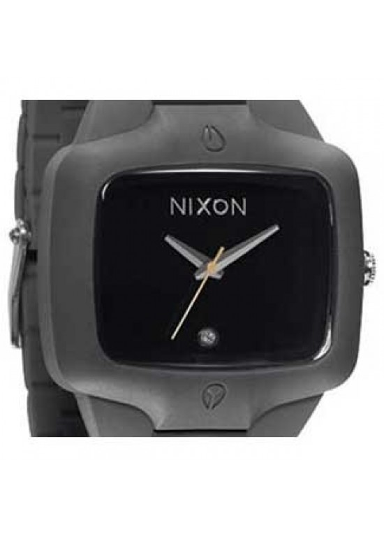 Nixon Rubber Player Grey Silicone Mens Watch - A139-195-dial